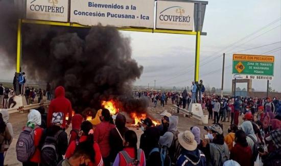Violenta jornada de protestas en Ica contra la Ley de Promoción Agraria