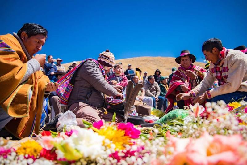 Apurímac realiza homenaje a la pachamama para agradecer 52 obras de siembra y cosecha de agua