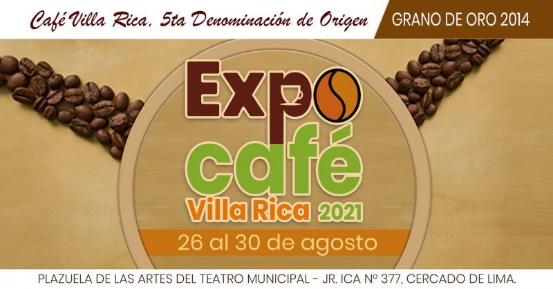 ExpoCafé Villa Rica 2021 se realiza en Lima desde hoy hasta el 30 de agosto