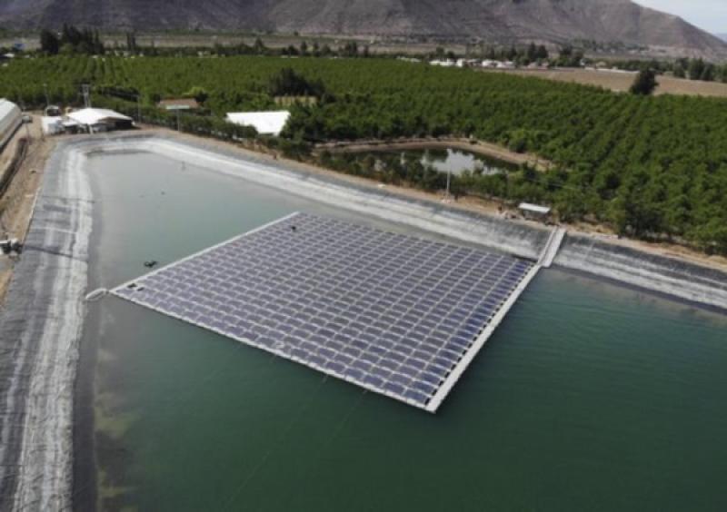 Hortifrut inaugura la primera planta fotovoltaica flotante en Chile