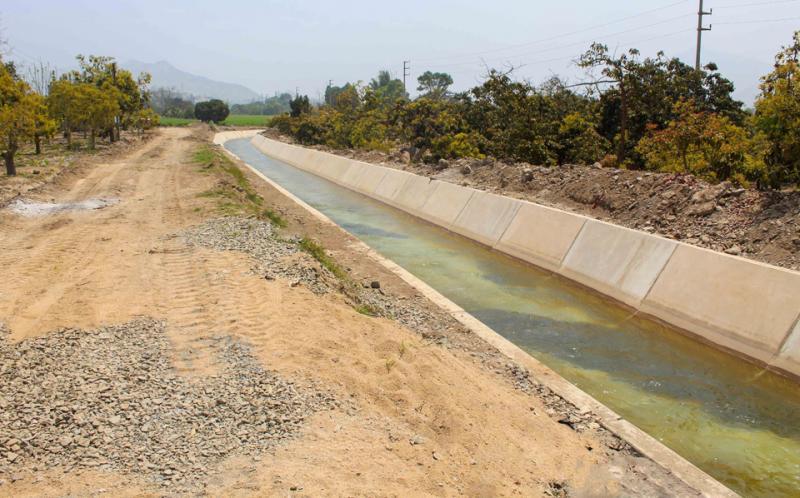 Huaral: construcción de canal y reservorio garantizará abastecimiento de agua para uso agrícola