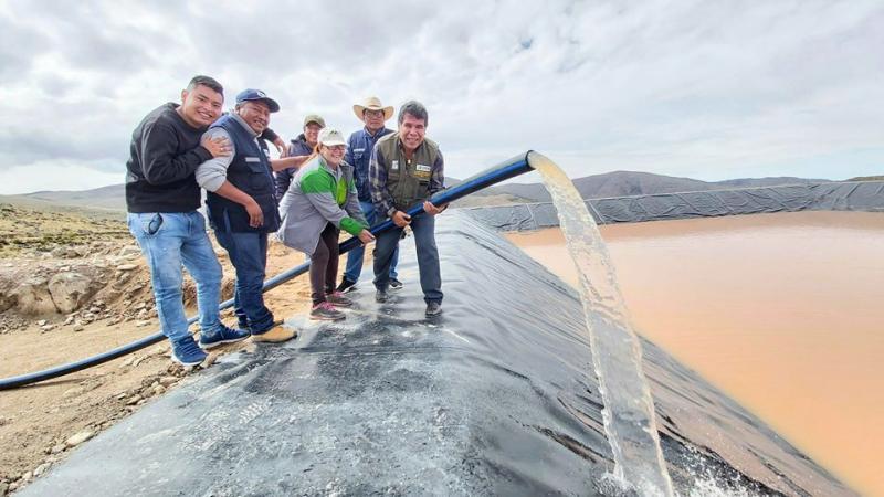 Ica: Lluvias alimentan los primeros reservorios del proyecto de siembra y cosecha de agua en Chincha