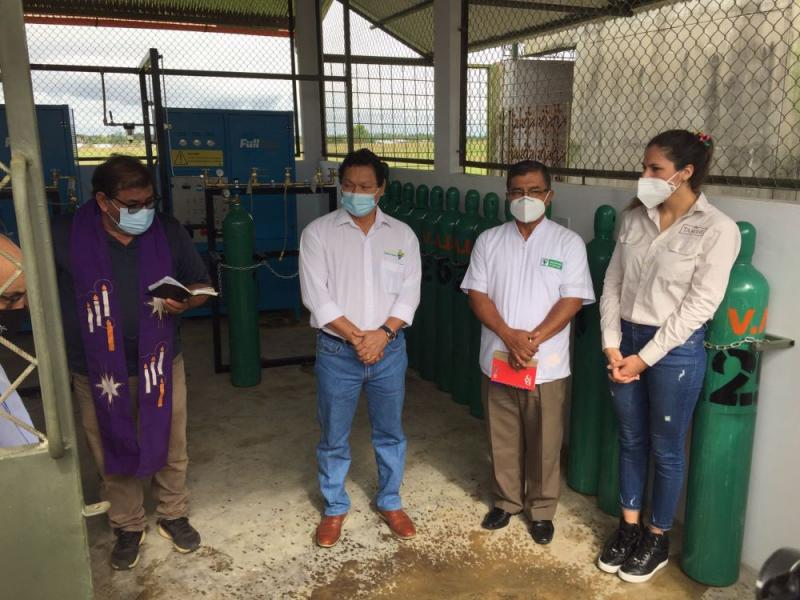 Iglesia Católica y Tamshi inauguran nueva planta de oxígeno en Loreto