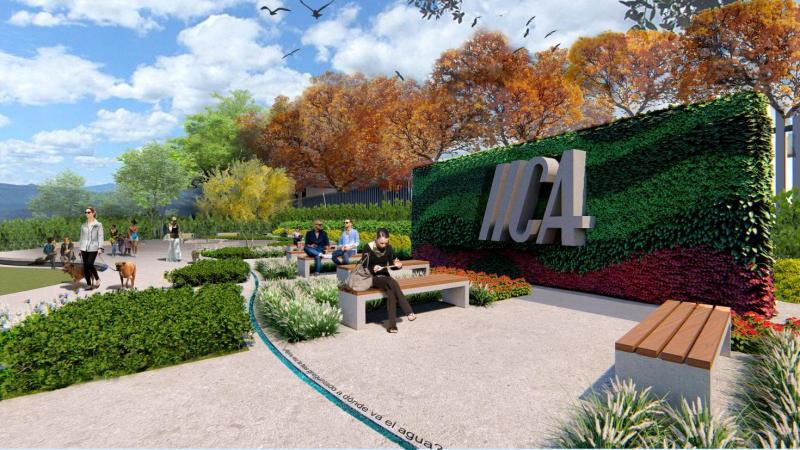 IICA comenzó a construir la Plaza de la Agricultura de las Américas
