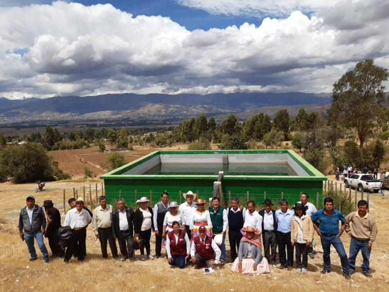 Junín: familias agricultoras reciben infraestructura de riego valorizada en más de S/ 2 millones