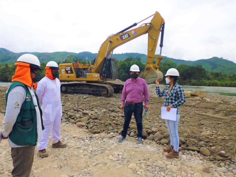 Minagri reinicia ejecución de defensa ribereña de río Perené
