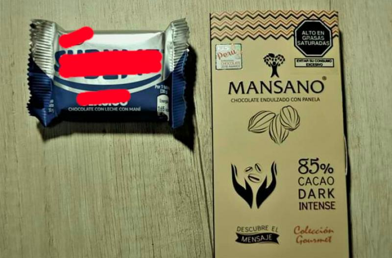 ¿Por qué un chocolate artesanal de calidad lleva el octógono de 'Alto en grasas saturadas' y no una conocida golosina industrial?