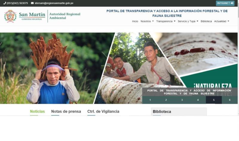 San Martín implementa portal web que transparenta información forestal y de fauna