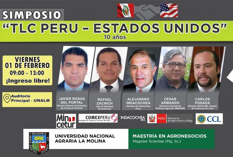 """UNALM  realizará simposio \""""TLC Perú- Estados Unidos, 10 años\"""""""