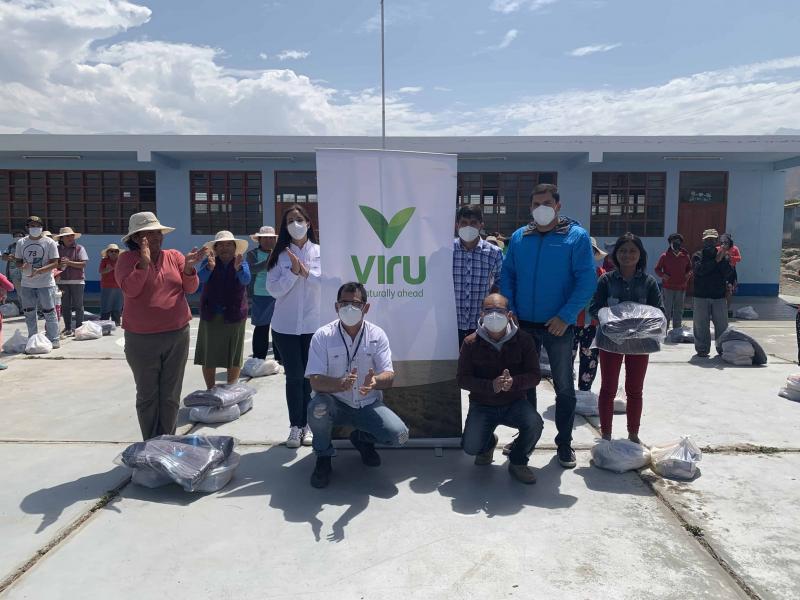 Virú S. A. contribuye con la alimentación y abrigo de más de 600 familias de las comunidades más necesitadas