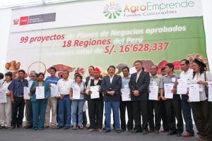 AGROEMPRENDE APROBÓ 99 INICIATIVAS DE PLANES DE NEGOCIO