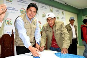 Asociaciones de productores firman convenio Procompite 2016 por más de S/ 1 millón