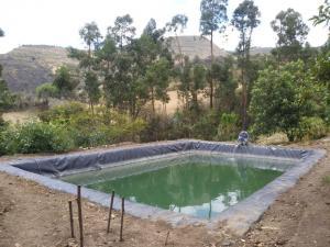 Cajamarca: construyen 11 reservorios de agua para riego en la provincia de Cajabamba