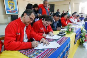 Cinco ministros, autoridades y sociedad civil de Candarave instalan mesa de diálogo para abordar problemática hídrica