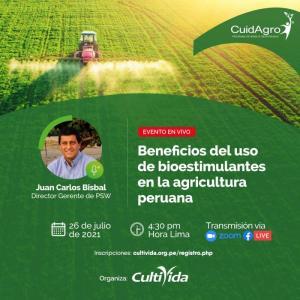 """CultiVida organiza el webinar """"Beneficios del uso de bioestimulantes en la agricultura peruana"""""""
