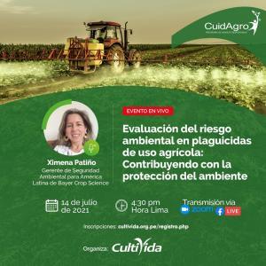 """CultiVida realizará webinar sobre """"Evaluación del riesgo ambiental en plaguicidas de uso agrícola: contribuyendo con la protección del ambiente"""""""