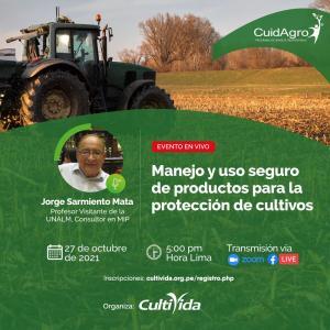 """CultiVida realizará webinar sobre """"Manejo y uso seguro de productos para la protección de cultivos"""""""