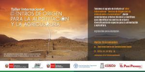 Cusco será sede del Primer Taller Internacional de Centros de Origen sobre Alimentación y Agricultura