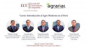 """ECC dictará curso online """"Introducción al agro moderno en el Perú"""""""