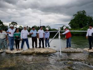 Entregan bocatomas rehabilitadas para abastecer de agua para riego en San Martín