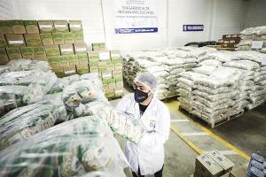 Gobierno distribuye más de 350 toneladas de alimentos