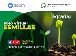 Hoy se realiza el Foro Virtual de Semillas