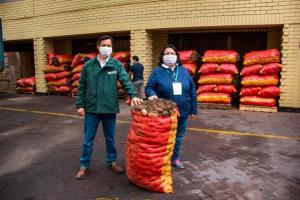 Junín: Productores comercializan cinco toneladas de papa sin intermediarios