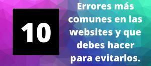 Los 10 errores más comunes en websites