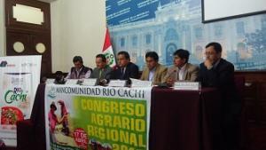 MANCOMUNIDAD MUNICIPAL RIO CACHI REALIZA PRIMER CONGRESO AGRARIO REGIONAL
