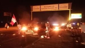 Nuevos bloqueos en la carretera Panamericana; AGAP solicita proteger a los trabajadores que necesitan laborar