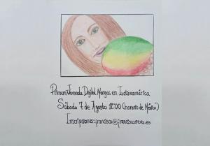 Prestigiosa dibujante mexicana Lore Vallin rinde homenaje al mango creando el cartel de las Primera Jornada Digital del Mango de Latinoamérica