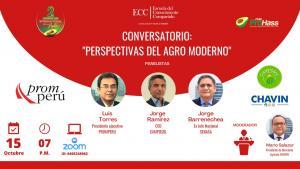 """PromPerú, Camposol y Chavín en Conversatorio """"Perspectivas del Agro Moderno"""""""