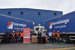 San Fernando colabora con poblaciones vulnerables por el COVID-19 entregando alimentos con aporte proteico a través del Banco de Alimentos