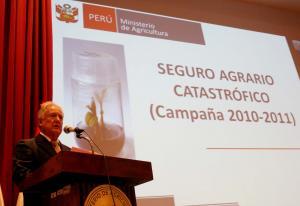 SEGURO AGRARIO CATASTRÓFICO CUBRIRÁ DAÑOS POR S/. 33 MILLONES