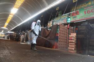 Senasa inició labores de desinfección en el mercado mayorista de frutas