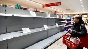 Ventas de abarrotes se duplicaron en supermercado en solo una semana de marzo
