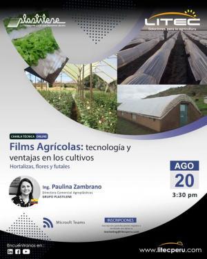 """Webinar: """"Films Agrícolas: Tecnología y ventajas en los cultivos - Hortalizas, flores y frutales"""""""