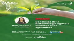 """CultiVida realiza mañana webinar """"Beneficios de la biotecnología agrícola moderna en la agricultura"""""""