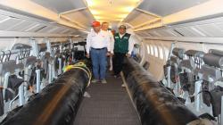 Minagri traslada geomembranas para solucionar crisis de abastecimiento de agua potable y regadío