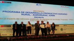 Premian proyecto de Agro Rural que promueve cuidado del agua en Junín