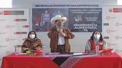 Presidente Castillo anuncia S/ 99 millones para alimentación de familias vulnerables