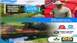 Realizarán seminario virtual sobre siembra y cosecha del agua en Junín