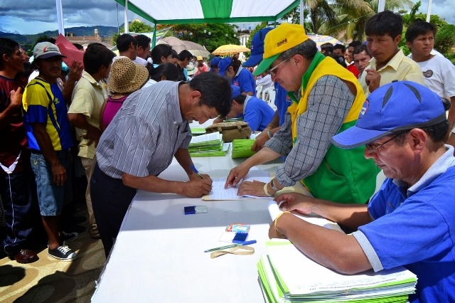 JUNÍN: HOY ENTREGAN 1.300 TÍTULOS DE PROPIEDAD AGRARIA EN SATIPO