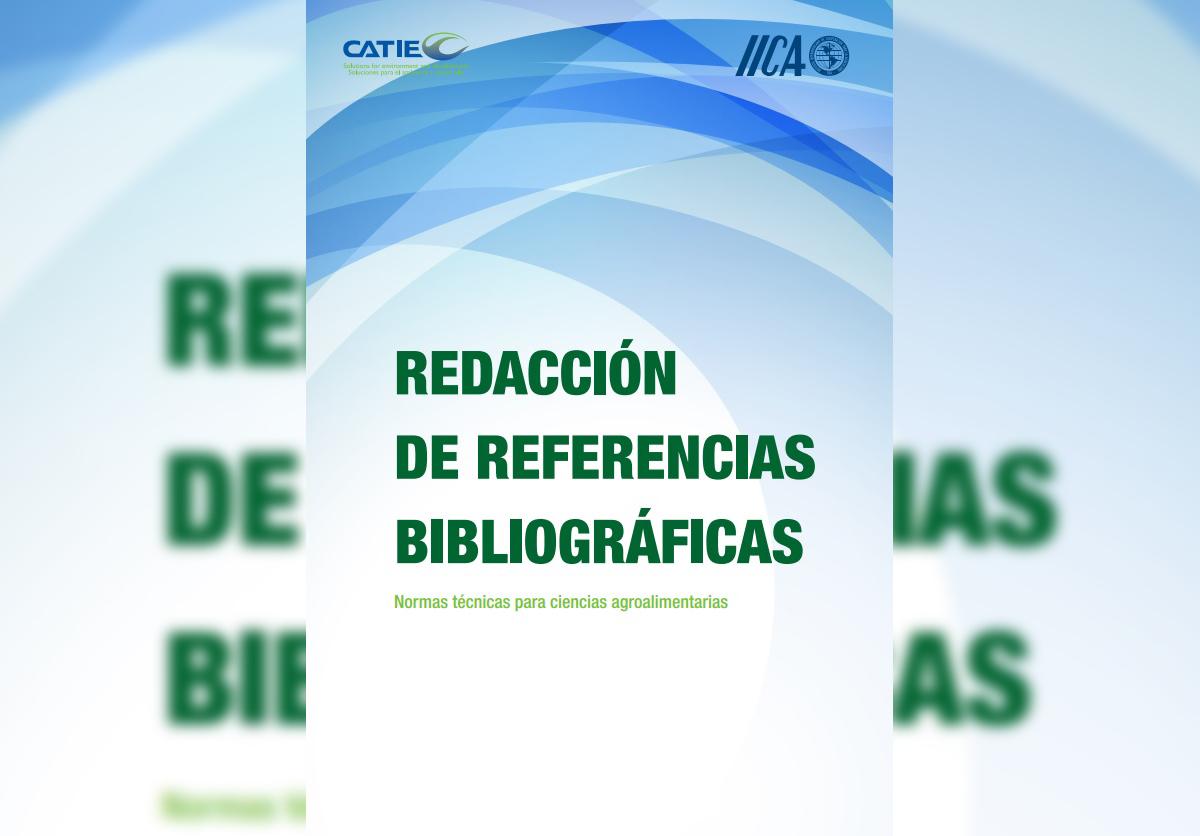 PUBLICAN MANUAL DE REDACCIÓN DE REFERENCIAS PARA PUBLICACIONES AGRÍCOLAS