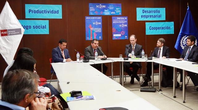 Produce y OIT invertirán más de US$ 700 mil para ofrecer asistencia técnica a 120 pymes peruanas