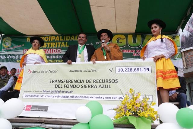 Minagri pone en marcha obras de riego por más de S/ 11 millones en Ayacucho