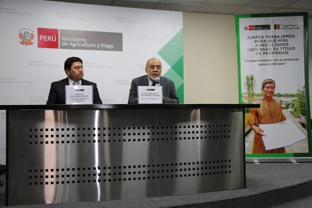 Minagri garantiza los procesos de titulación de tierras capacitando a los gobiernos regionales en l...
