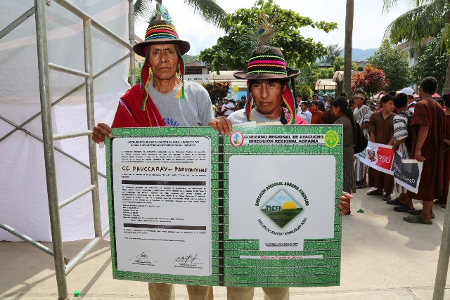 Minagri señala que gratuidad del proceso de titulación de tierras está garantizada