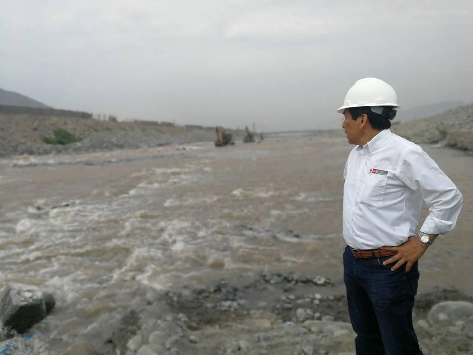 Labores de descolmatación y encauzamiento de ríos desde Tumbes a Ica tienen un avance del 80%