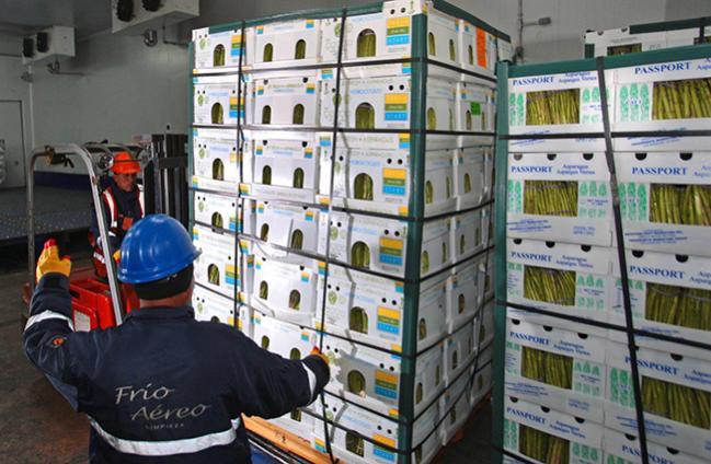Espárrago fresco fue el tercer producto más exportado a través del aeropuerto Jorge Chávez el 20...
